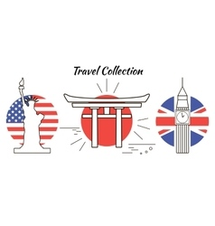 travel collection vector image vector image