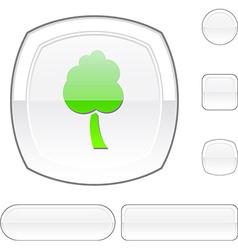 Tree white button vector