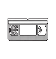 video cassette vhs videotape from 90s isolated vector image vector image