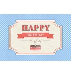 Vintage happy birthday card vector