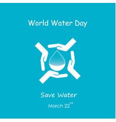 water drop with human hand logo design vector image