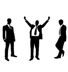 people in suit silhouette vector image