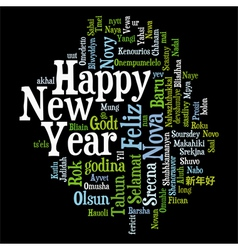 New year tag cloud vector