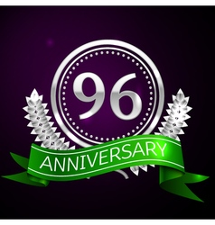 Ninety six years anniversary celebration with vector