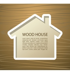 Wood house vector