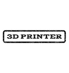 3d printer watermark stamp vector