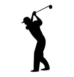 golf player silhouette vector image