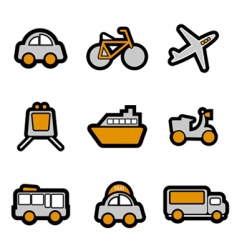 vehicles icon vector image