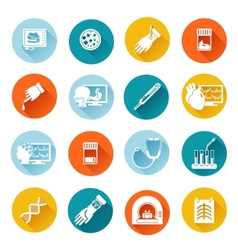 Medical tests icons flat vector image