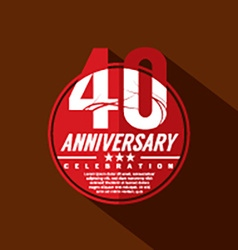 40 years anniversary celebration design vector