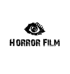Horror film with eye vector