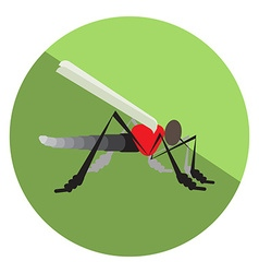Flat mosquito vector