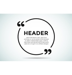 Quote blank template bubble empty design vector