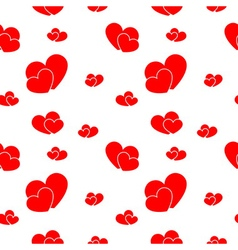 Red big and small hearts vector