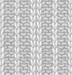 Seamless ribbing stitch pattern vector