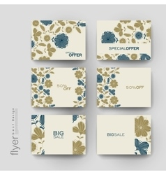 Floral background brochure template flyer vector