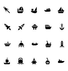 Aircraft and Ships Icons 5 vector image
