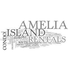 Amelia island bed breakfast text word cloud vector