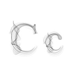 Black smoke font letter c vector