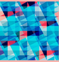 blue triangles seamless texture vector image vector image