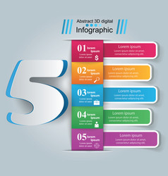 business infographic number icon vector image vector image