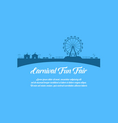Carnival funfair design style background vector