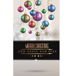 Christmas original modern background template vector image vector image