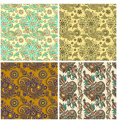 collection of seamless wallpaper background vector image