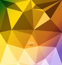 Colorful abstract polygon background vector image vector image
