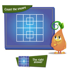 count the squares game 5 vector image vector image
