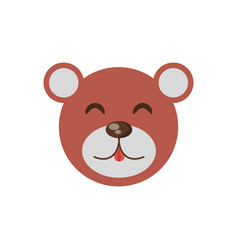 Cute face bear animal cheerful vector