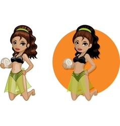 Cute young Indonesian woman in bikini vector image vector image