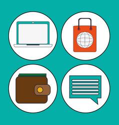 Digital marketing concept strategy finance vector