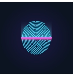 Fingerprint electronic scanning identification vector