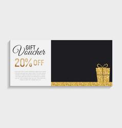 Gift voucher template background vector