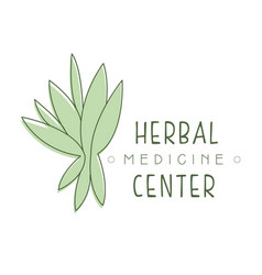 Herbal medicine center logo symbol vector