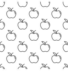 Pattern with thin line apples vector