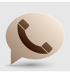 Phone sign Brown gradient icon on vector image vector image