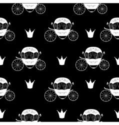 Princess Cinderella Fairytale Carriage Seamless vector image