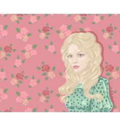 Retro Woman Portrait vector image vector image