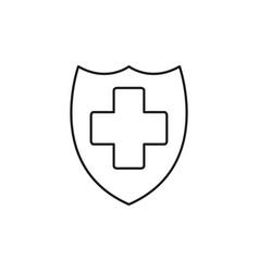 security shield icon vector image