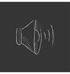 Speaker volume Drawn in chalk icon vector image vector image