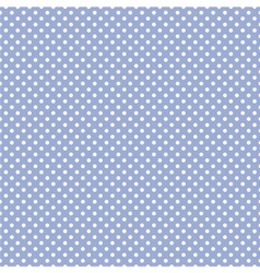 Tile pattern white polka dots on blue background vector image