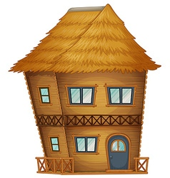 Two stories hut made of bamboo vector image vector image