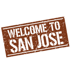 Welcome to san jose stamp vector
