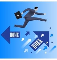 Work life balance business concept vector