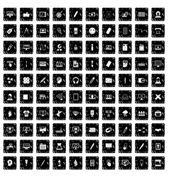 100 webdesign icons set grunge style vector