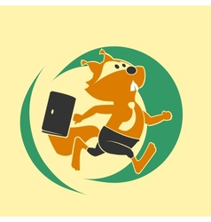 Squirrel run vector image