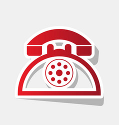 retro telephone sign  new year reddish vector image