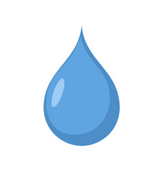 drop of water isolated drib aqua blue on white vector image